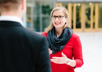 Kristine Lütke, Vorsitzende der Wirtschaftsjunioren Deutschland 2018