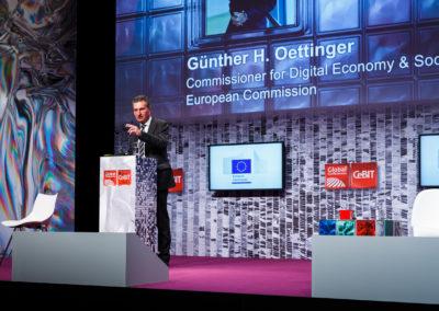 Günther Oettinger, zu diesem Zeitpunkt noch Digitalkommisar der Europäischen Kommission