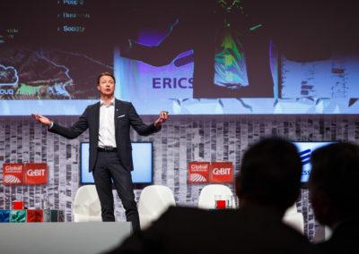 Hans Vestberg, zu dem Zeitpunkt noch CEO von Ericsson