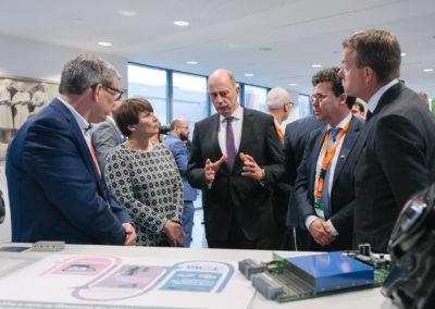 Lilianne Ploumen,  Ministerin für Außenhandel und Entwicklungszusammenarbeit der Niederlande und Wolfgang Tiefensee, Wirtschaftsminister von Thüringen