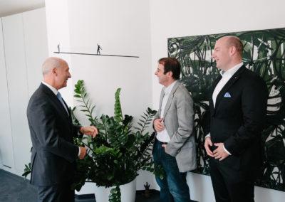 Peter Kopf, Präsident der IHK Cottbus, Alexander Kulitz, Vorsitzender der Wirtschaftsjunioren Deutschland und Matthias Kopf, Landesvorsitzender der WJ Berlin-Brandenburg