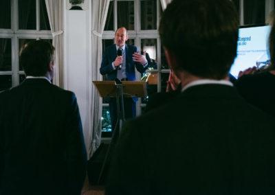 Jan Eder, Geschäftsführer der IHK Berlin beim Neujahrsempfang der Wirtschaftsjunioren Berlin